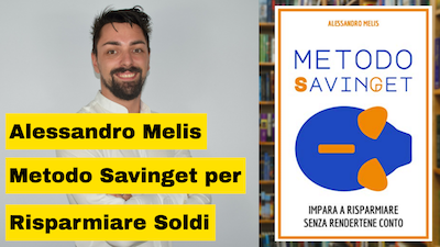 Alessandro Melis e il suo libro che insegna come risparmiare soldi