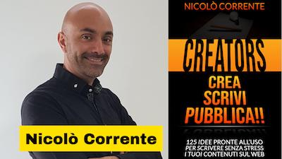 Nicolò Corrente autore del libro Crea, Scrivi, Pubblica – Bookness